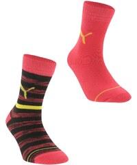 Ponožky Puma Stripe 2 Pack Crew dět. růžová