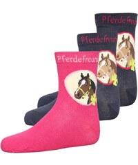 Coppenrath Verlag PERDEFREUNDE 3 PACK Socken navy/pink