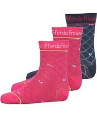 Coppenrath Verlag PERDEFREUNDE 3 PACK Socken pink/navy