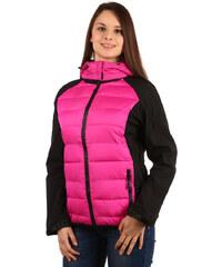 TopMode Prošívaná bunda s odepínací kapucí růžová