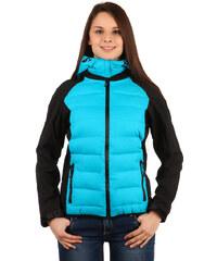 TopMode Prošívaná bunda s odepínací kapucí modrá