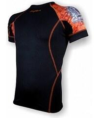Pánské bambusové triko krátký rukáv SKULL černá