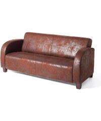 bpc living Sofa James 3-Sitzer, Sofa 3-Sitzer in braun von bonprix