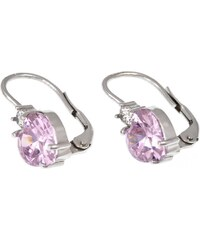 a-diamond.eu jewels s.r.o. (CZ) Náušnice stříbrné růžová srdíčka sna92