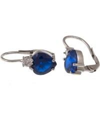 a-diamond.eu jewels s.r.o. (CZ) Náušnice stříbrné modrá srdíčka sna93