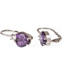 a-diamond.eu jewels s.r.o. (CZ) Náušnice stříbrné fialová srdíčka sna96