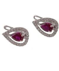 a-diamond.eu jewels s.r.o. (CZ) Náušnice stříbrné s rubíny sna97