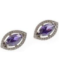 a-diamond.eu jewels s.r.o. (CZ) Náušnice stříbrné fialové sna99