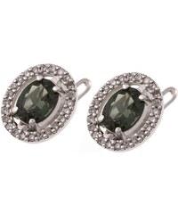 a-diamond.eu jewels s.r.o. (CZ) Náušnice stříbrné zelené sna100
