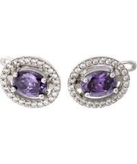 a-diamond.eu jewels s.r.o. (CZ) Náušnice stříbrné fialové sna101