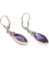 a-diamond.eu jewels s.r.o. (CZ) Náušnice stříbrné fialové sna110