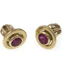 a-diamond.eu jewels s.r.o. (CZ) Náušnice zlaté pecky rubíny zna121