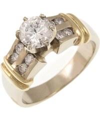 Prsteny zlaté s přírodními diamanty zásnubní set zpd178