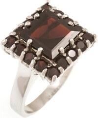 a-diamond.eu jewels s.r.o. (CZ) Prstýnek stříbrný s přírodními granáty spd205