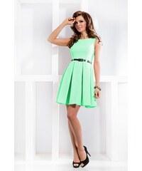 SAF Dámské šaty se skládanou sukní a páskem pistáciové velikost oblečení: M