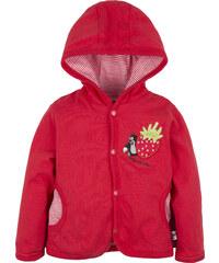 G-mini Dívčí oboustranný kabátek Krteček a Jahoda - červený
