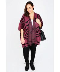 VITALITY Růžovo černé kimono