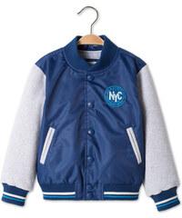 C&A College Jacke mit Fleeceärmeln in Blau / Grau