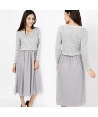 Lesara 2-teiliges Set Kleid & Pullover - S