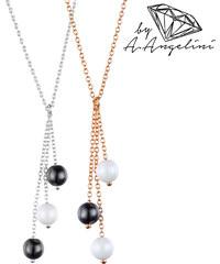 Collier en argent 925 avec perles en céramique A.Angelini
