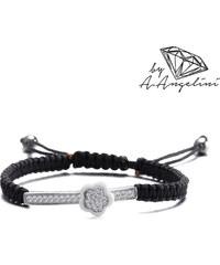 Bracelet en noeuds croisés avec pendentif en argent 925 A.Angelini