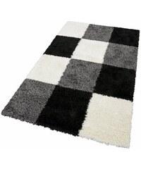 MERINOS Hochflor-Teppich merinos Denton Höhe 50 mm gewebt schwarz 2 (B/L: 80x150 cm),3 (B/L: 120x170 cm),31 (B/L: 65x130 cm),4 (B/L: 160x230 cm),6 (B/L: 200x290 cm)