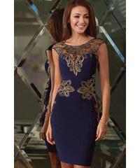 Dámské sexy společenské šaty modré
