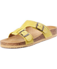 Barea Dětské žluté pantofle 010050