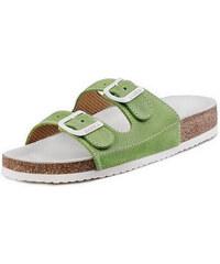 Barea Dětské zelenobílé pantofle 008053