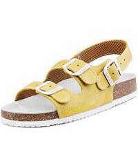 Barea Dětské žlutobílé sandály 010462