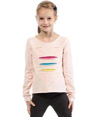 KIDIN Dětské světle růžové tričko KI004