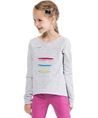 KIDIN Dětské světle šedé tričko KI004