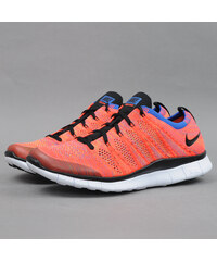 Nike Free Flyknit NSW brght crmsn / blk - grn strk - gm ry