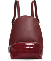 Gretchen Melo Quilted Backpack - Burgundy Red Patent