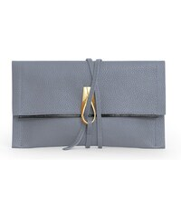 Gretchen Opal Loop Clutch - Ash Gray Black/Gold