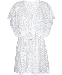 Lua Morena Kimono Blanc Ajouré Motifs Arabesques - Quimono Branco