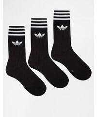 adidas Originals - 3-er Pack Mannschaftssocken in Schwarz S21490 - Schwarz