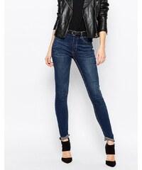Cheap Monday - Jean skinny seconde peau à taille haute - Bleu
