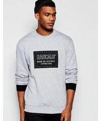 Rascals - Sweatshirt mit Logoaufnäher - Grau