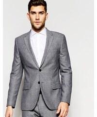 Reiss - Wedding - Schmale Anzugjacke in melierter Optik - Grau