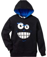 bpc bonprix collection Sweat-shirt à capuche imprimé cool, T. 116/122-164/170 noir manches longues enfant - bonprix