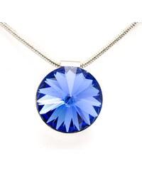 FaBOS Náhrdelník swarovski elements krystal tmavě modrý- 14 mm