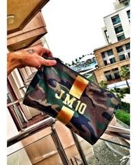 Mia Bag Kosmetická Army taška (unisex) - zlatý pás