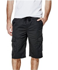 GUESS GUESS Farran Pull-Up Cargo Shorts - jet black