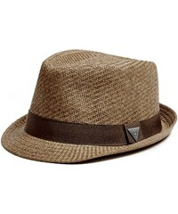 GUESS GUESS Woven Triangle Fedora - brown
