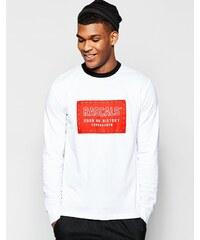 Rascals - Langärmliges T-Shirt mit Box-Logo - Weiß