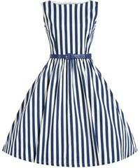 Šaty Lindy Bop Audrey Blue Stripe