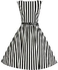 Šaty Lindy Bop Audrey Black Stripe