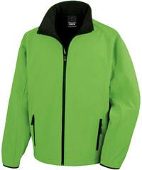 Pánská softshellová bunda - Zelená a černá S