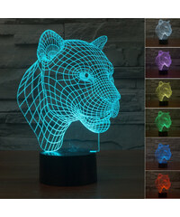 Lunio Color Lampe LED illusion 3D forme léopard